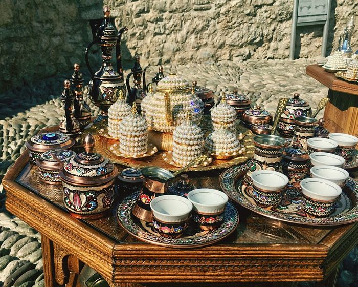 Mostar Bosnia - Local Handcrafts Artisanat Teapot Bosnia And Herzegovina Souvenir Gift Plate Table Large Group Of Objects Old Town Mostar The Week On EyeEm