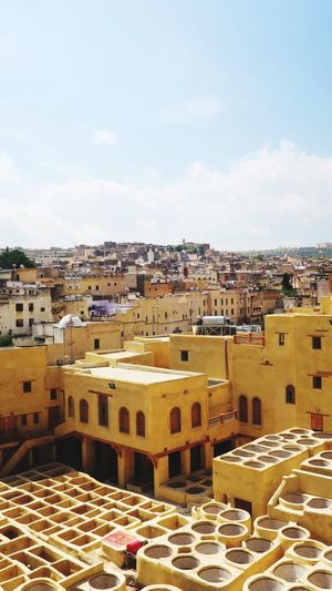 Hello World Ancient Tannery Ancient Civilization Ancient City Fes Morocco