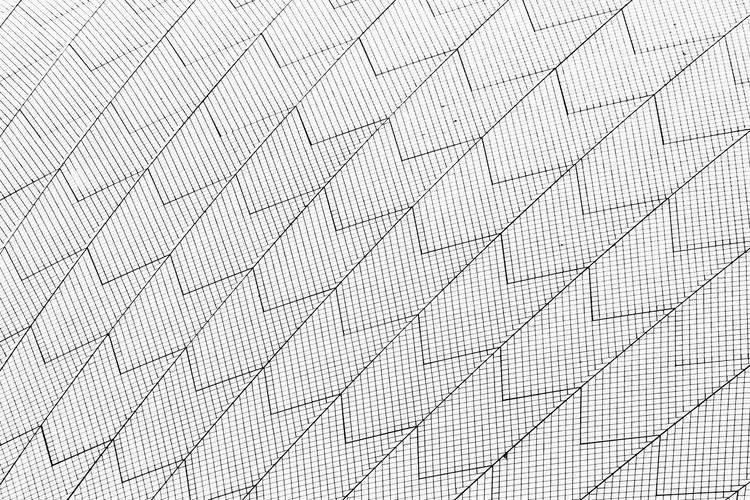 Detail of Sydney Opera House buidiing Pattern Textured  No People Textile Close-up Architecture Wall - Building Feature Sydney Opera House