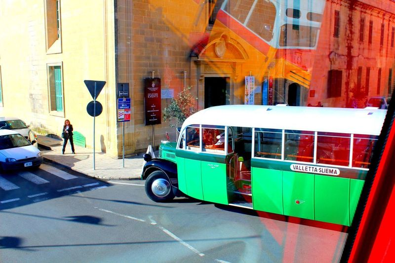 Maltese buses Mode Of Transportation Transportation Building Exterior City Architecture Land Vehicle Street Motor Vehicle Day Sunlight Road Outdoors Capture Tomorrow It's About The Journey