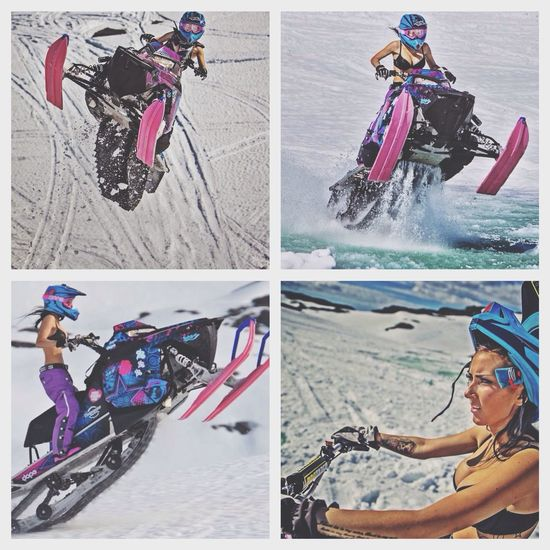 Maria Sandberg from Norway, riding the sled pretty hard! ExSport