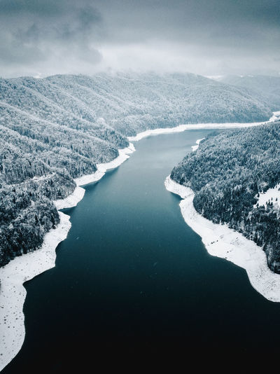 Drone  Nature Aerial View Beauty In Nature Cold Temperature Day Dji Frozen Iceberg Landscape Mountain Nature Nature_collection No People Outdoors River Scenics Sky Snow Snowing Storm Cloud Tranquil Scene Tranquility Water Winter Go Higher The Great Outdoors - 2018 EyeEm Awards The Creative - 2018 EyeEm Awards The Traveler - 2018 EyeEm Awards
