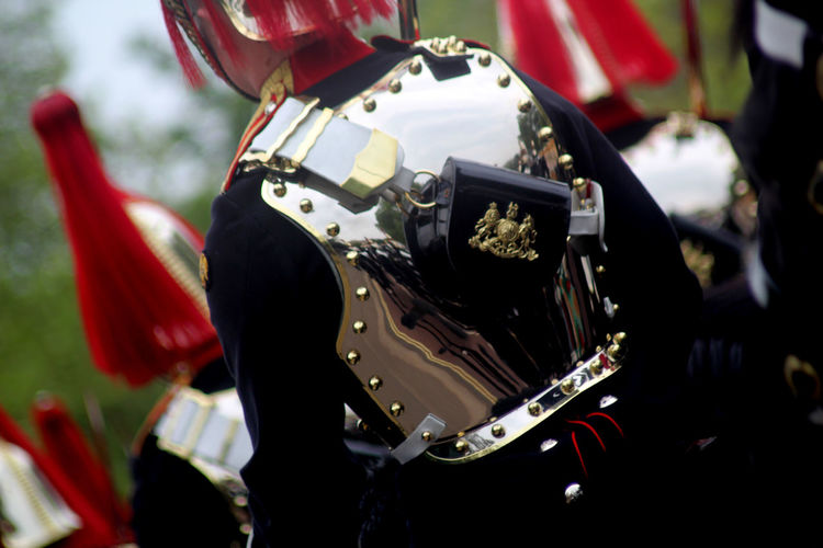 Midsection Of Army Soldier Wearing Shiny Uniform