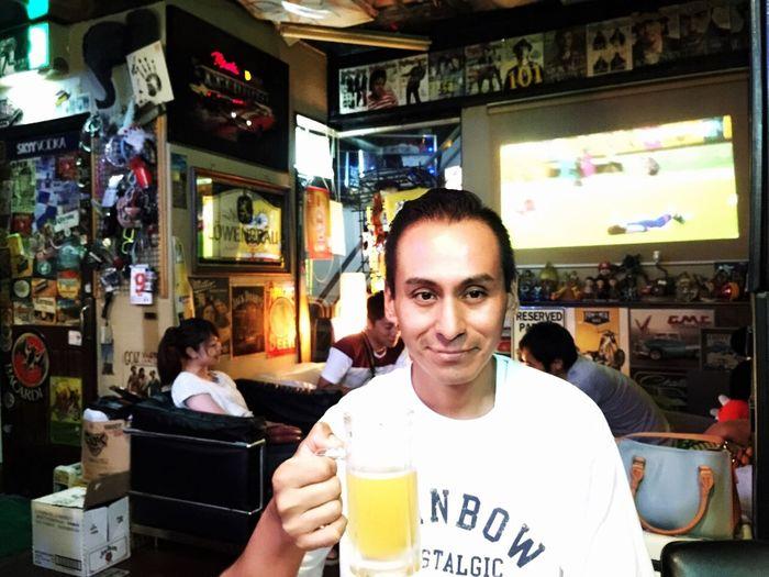 昨日夜居酒屋行った😊いっぱいビール飲んだ🍻 Hello World Bar Japanese Beer Relaxing
