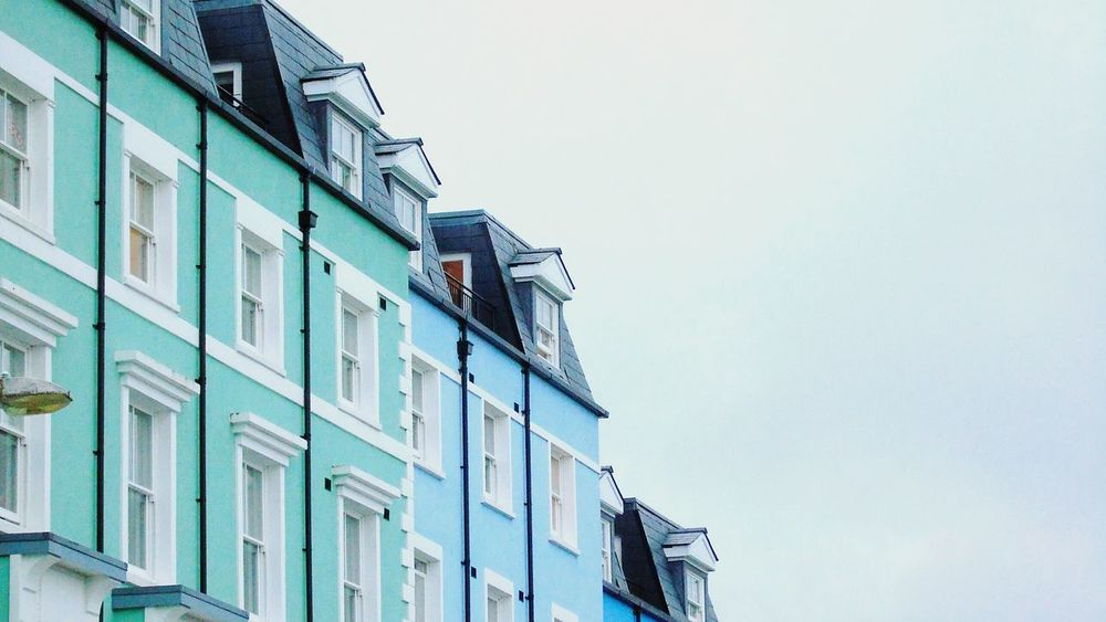 Colourful Houses Tenby Beach House Houses Town EyeEm Best Shots EyeEm Best Edits Colour Of Life Blue House
