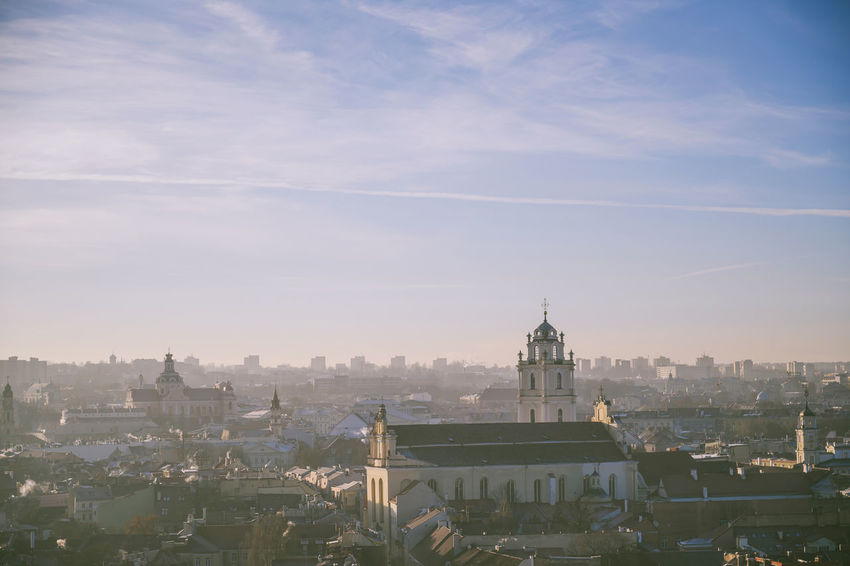 Morning panorama of Vilnius Nikon Z7 Z7 Europe Lithuania Lietuva Morning Panorama City Winter Capital Cities  Built Structure Building Exterior Architecture Sky Building Cityscape Travel Destinations Nature Place Of Worship No People Day Religion Travel Tourism Residential District Outdoors Spire