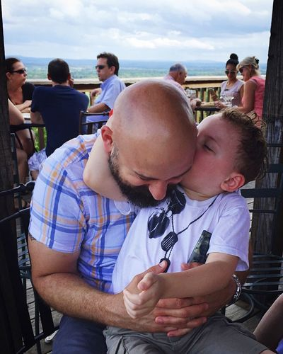 People Together People Together By August 3 2016 Family Father & Son Whataviewthough Views Beautiful Kisses This Is Family