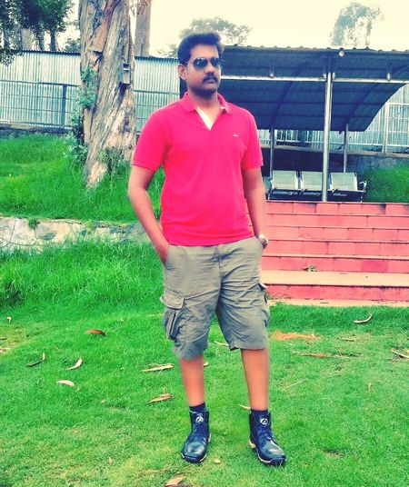 Vacation..... Red Casual Outdoors Park - Man Made Space Front View Standing Day Person
