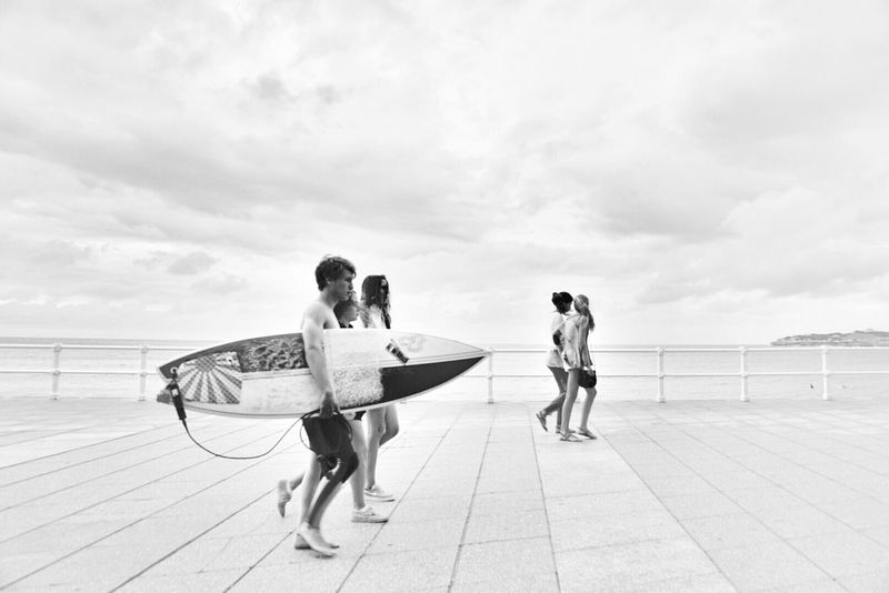 Blackandwhite Monochrome Surfing Streetphotography Mi Serie Gijón Mi Serie Minimal