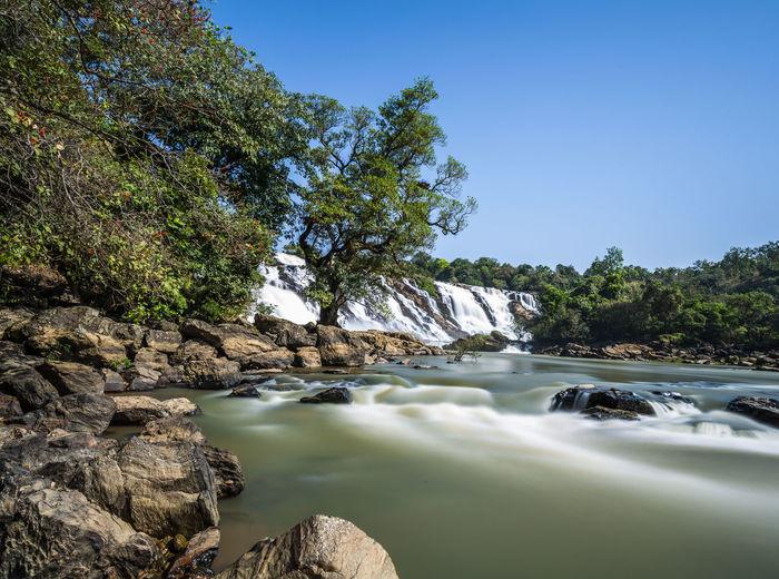 Gurara waterfalls along the river gurara in niger state of nigeria.