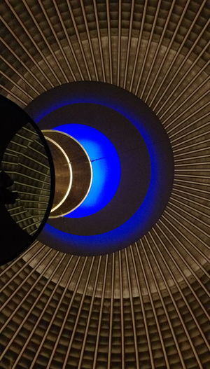 Art Calmness Berlin Photography Indoor Photography No People Public Places Berlin Mitte Historical Monuments Blue Installation Art Rebbecca Horn Ceiling Light  Church Interior Exhibition Urban Scenes Human Made Structure Artificial Light Artificial Circles Artistic Photo Arts Culture And Entertainment ArtWork Spiral Staircase Blue Close-up Architecture Spiral Concentric Semi-circle Spiral Galaxy