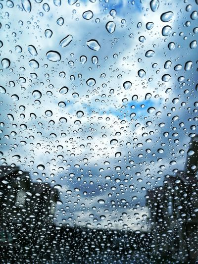 Lluvia Backgrounds Full Frame RainDrop Drop Wet Window Rain Sky Close-up Water Drop Glass Rainy Season