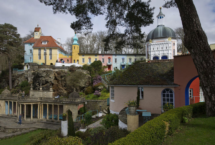 Portmeirion is a fantasy Italian style village in North Wales built by architect Sir Clough Williams-Ellis between 1925 and 1975, it includes many different architectural styles and a hotel. The village was the location for the television series 'The Prisoner' 'The Prisoner' A Architectural Architecture Building Buildings Fantasy Fantasy Villages Location Locations North Wales Portmeirion Sir Clough Williams-Ellis Tourism Tourist Attraction  Tourist Destination Tv Tv Location Tv Locations Uk United Kingdom Village Villages Wales