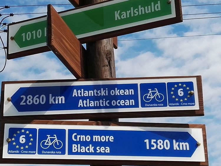 Its still a long way by bike to the Black Sea The Great Outdoors - 2016 EyeEm Awards Signs Signs Of Direction Feel The Journey On The Way