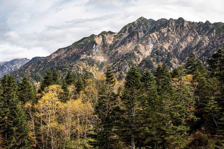 秋の穗高連峰 Mountain
