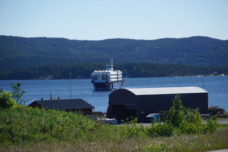 Clear Sky No People Day Nautical Vessel Outdoors Water Nature Sky Blue Tree Harbor Shipp Sweden Örnsköldsvik Köpmanholmen Transportation