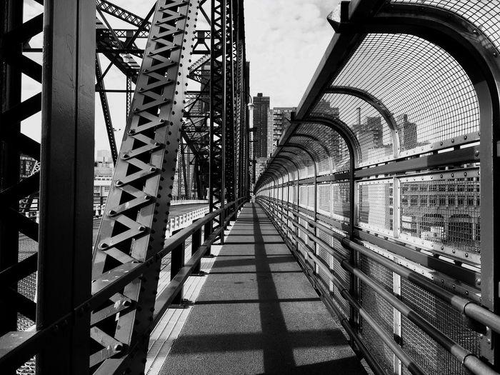 Vanishing Point on the Roosevelt Island Bridge Blackandwhite Architecture Infrastructure XMarksTheSpot