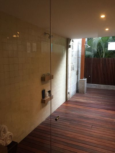 Indoor Outdoor Shower Architecture Modern Day