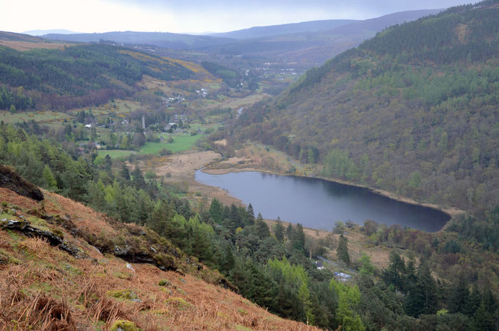 Glendalough, Co. Wicklow Lake Round Tower Monastic Settlement Glacial Valley