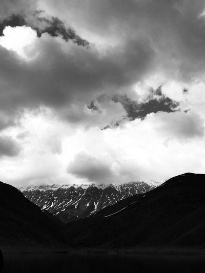 EyeEm Best Shots Blackandwhite Cloud - Sky Sky Architecture Nature No People Built Structure Building Exterior Mountain Landscape