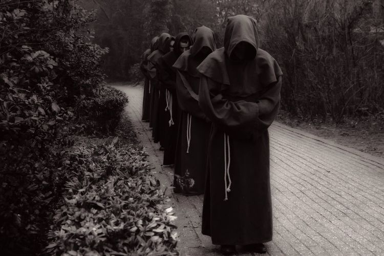 Monochrome Photography Druidwalk Dramatic Druids Druid Group Masked Walking Group Sepia Monochrome Mysterious Mystical Mystical Atmosphere Mystical Druids