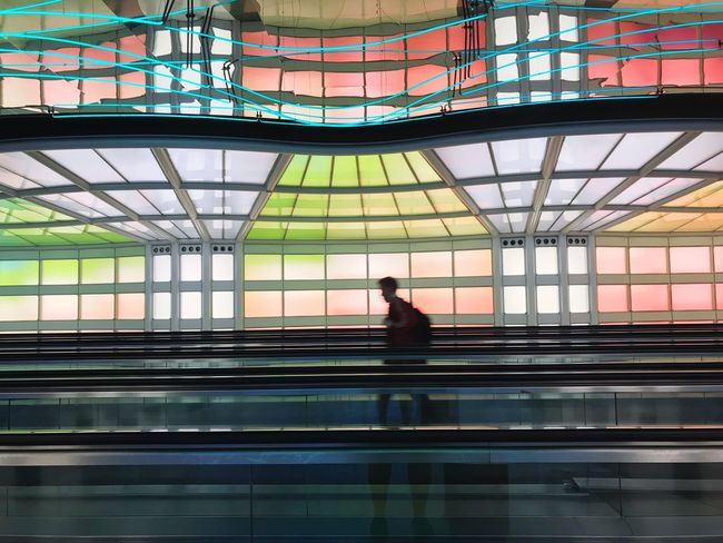 Airport tunnel connecting terminals. Architecture One Person Indoors  City Adult Adults Only Built Structure Lifestyles Men People Modern One Man Only Day Only Men Young Adult Transportation On The Go