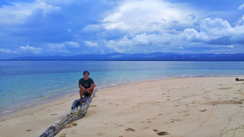 Now you see me Sea Beach Sand Cloud - Sky Horizon Over Water One Man Only Vacations Papua INDONESIA