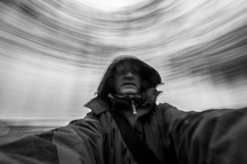Dance Man Circles Movement Slow Shutter Slow Sync Flash Strange Swirl