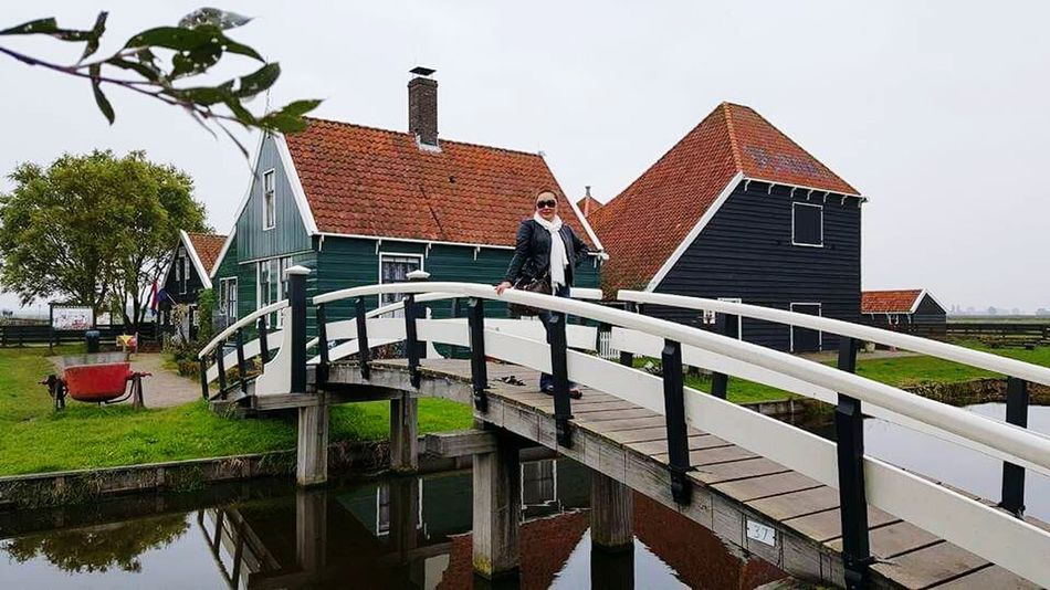 Autumn 2015 Holland Beautiful Place The Windmill Zaanse Schans For My Own Photo Journal Travel Photography Travel And Leisure Discovering Places That's Me Walking Alone... 😍❤️