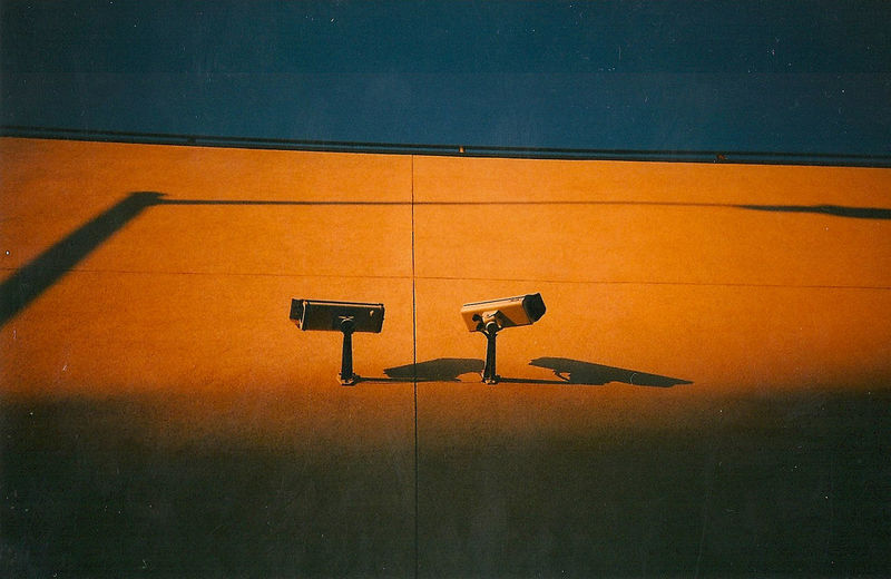 Cctv cameras on a building wall