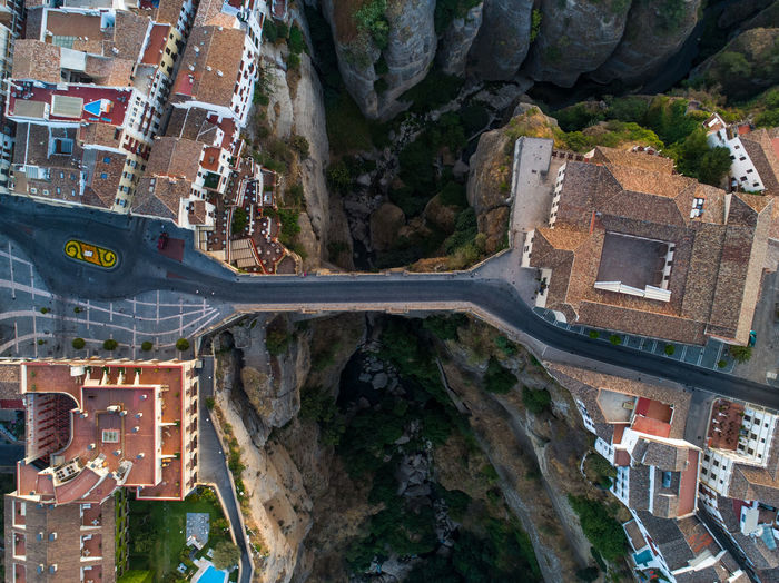 Architecture Built Structure Building Exterior High Angle View City Residential District Travel Destinations Sunrise SPAIN Ronda Andalucía Aerial View Aerial Drone  Above Gorge Deep Bridge No People Connection Travel Road Famous Destination Countryside
