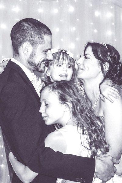Togetherness Child Happiness Enjoyment Smiling Popular PhotosBlack And White Photography Black & White Love Wedding Photography First Dance As Husband And Wife Bride Bride And Groom