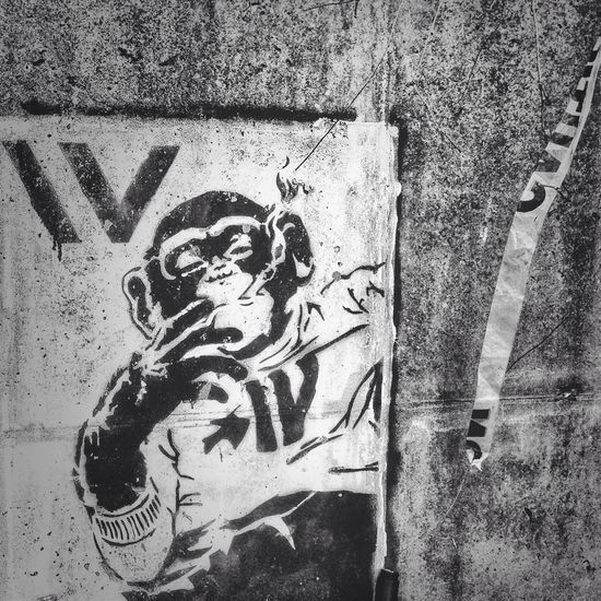Graffiti Atlanta Street Art Black And White