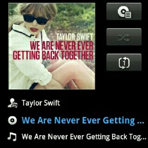 Love this song!! On repeat since yesterday Taylorswift WeAreNeverEverGettingBackTogether