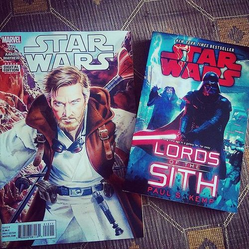 My type of delivery. I've heard a lot of good reviews about Lords of the Sith being one of the best novels in the new canon era, so best I give it the once over. Starwars LordsoftheSith Darthvader Darthsidious StarWarsBooks Kenobi MarvelStarWars