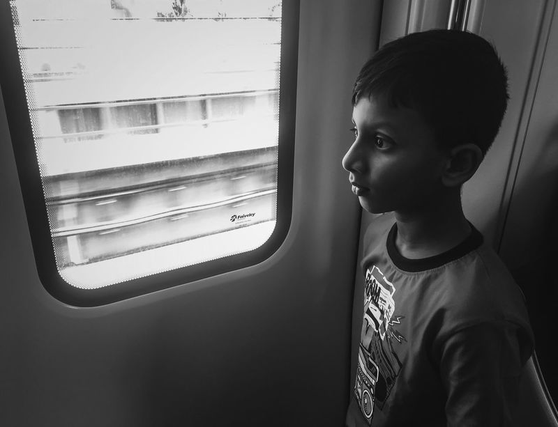 Big eyes 👀 Window Childhood One Person Boys Real People Train - Vehicle Looking Through Window Indoors  Child Day Shock Facial Experiments Boy Kid Fear Anxiety  The Portraitist - 2017 EyeEm Awards Visual Creativity