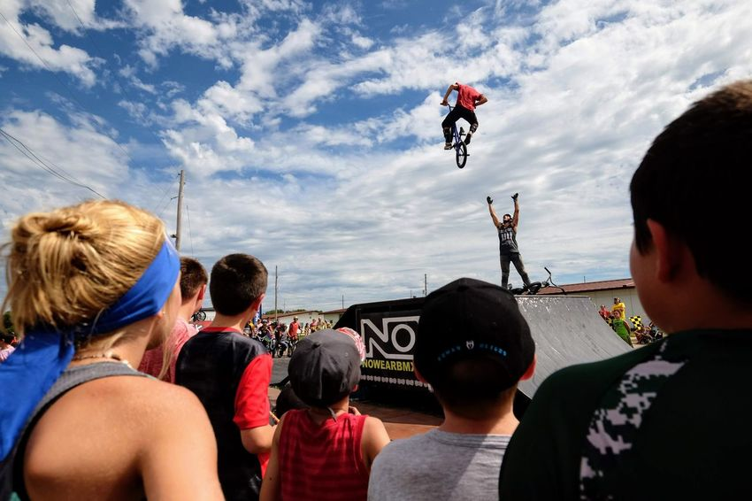 Nowear BMX Team Nebraska State Fair September 1, 2018 Grand Island, Nebraska Camera Work Check This Out EyeEm Best Shots FUJIFILM X-T1 Fujinon 10-24mm F4 Getty Images Grand Island, Nebraska Nebraska State Fair NowearBMX Photojournalism Action Action Shot  Adult Bicycle Bmx  Bmx Cycling Cloud - Sky Crowd Day Events Extreme Sports Eye For Photography Freestyle Group Of People Headshot Jumping Leisure Activity Lifestyles Looking Men Mid-air Motion Nature Outdoors People Real People Rear View S.ramos September 2018 Series Sky Spectator Sport Transportation Watching Women
