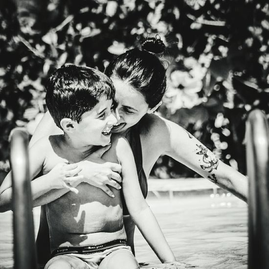 Showcase March Wearefamily Summertime Swimming Pool Mother And Son