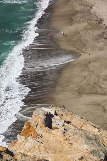 California Malibu Point Dume Tourist Attraction  Aerial View Beach Beauty In Nature Day High Angle View Nature No People Outdoors Sand Sea Tourist Destination View From Above Water Wave Lost In The Landscape