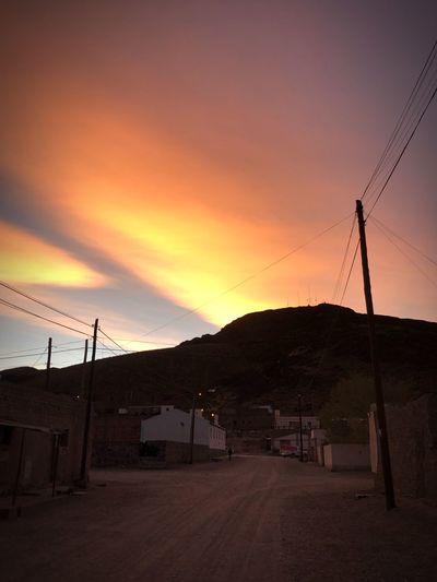 San Antonio de los Cobres Sky Sunset Scenics - Nature Beauty In Nature Technology Nature Electricity  Orange Color Cloud - Sky Land Environment First Eyeem Photo