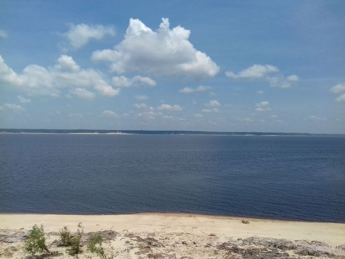 Beach Nature Beauty In Nature Horizon Over Water Paricatuba Blue Amazonas-Brasil No People Cloud - Sky