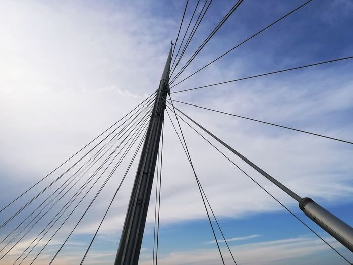 Engineering High Detail Pescara Bridge Of The Sea Architecture Construction Modern Style Modern Structure Technology Cable Steel Sky Cable-stayed Bridge Steel Cable Suspension Bridge Bridge - Man Made Structure Footbridge Bascule Bridge Bridge