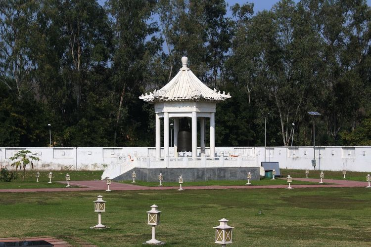 Peace Bill, Xuanzang Memorial, Nalanda Xuanzang Plant Tree Building Exterior Built Structure No People Architecture Grass Park - Man Made Space Architectural Column Travel Destinations Land History Day Lawn Outdoors Growth Park The Past Nature Travel
