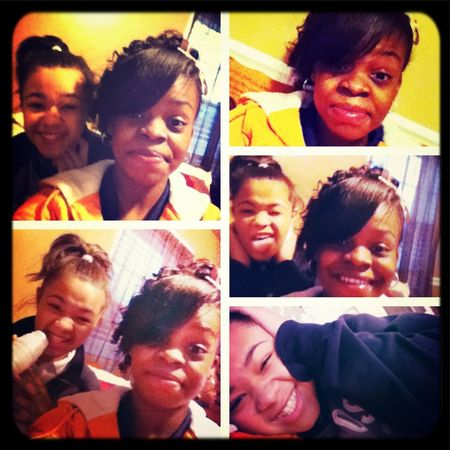 ME && ONE OHF MII BESTIES! AHT THE HOUSE !
