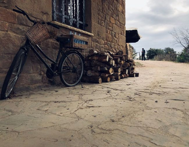 Bicycle Land Vehicle Transportation No People Nature Day Mode Of Transportation Land Stationary Built Structure Bicycle Basket Sunlight Sand Building Exterior Outdoors Sky Architecture City Tree