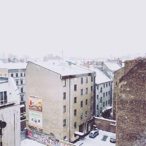 Berlin Schnee Schneefall Weiss Kreuzberg Es Schneit Schneelandschaft Urban Hinterhof Stimmung Winter Wintertime Kalt