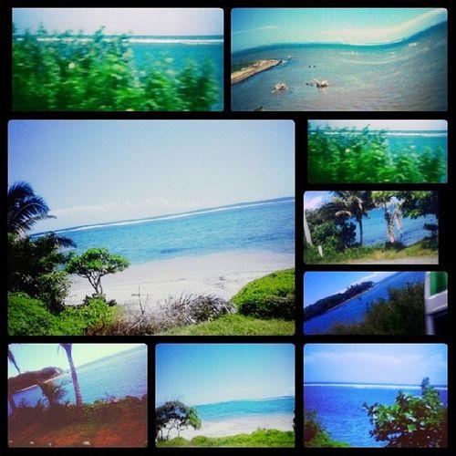 View on my way to Suva. AwesomeDay Travel CoralCoast VitiNoquViti ocean SandAndSea instalove