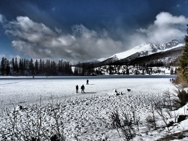 Beauty In Nature Cloud - Sky Cold Temperature Landscape Mountain Nature Outdoors Scenics Snow Winter Strbske Pleso