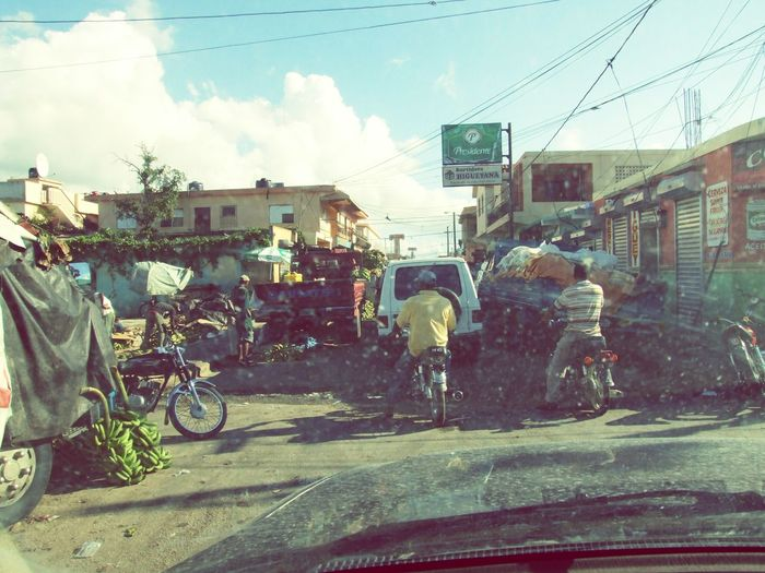 Caribbean life Streetphotography Street Streetlife Dirty Through The Window Caribbean Cultures Busy Traffic Dominican Republic Tropical Lifestyle People