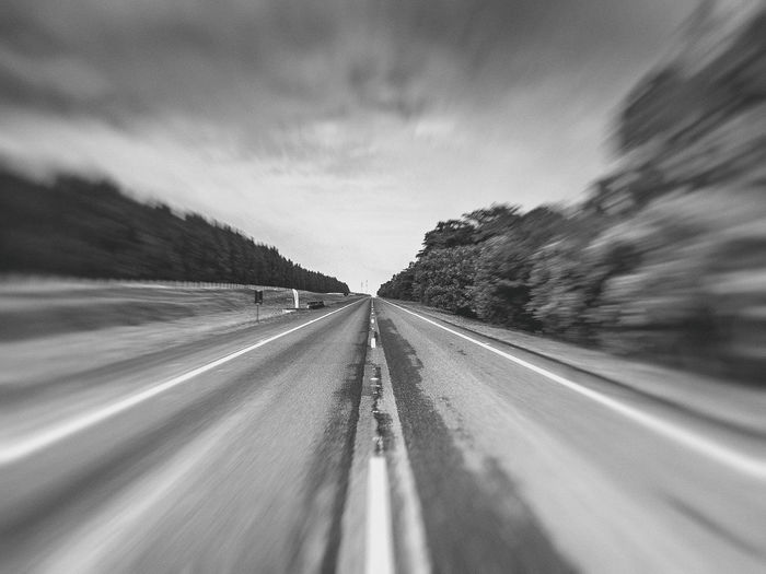 Brotas, SP - Brasil Blurred Motion Day Diminishing Perspective Landscape Movement Nature No People Outdoors Road Scenics Sky Speed The Way Forward Transportation Tree